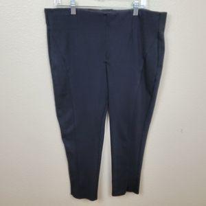 Lane Bryant Black Knit Pull On Pants 20 Short